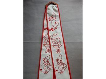 BRICKBAND retro jul tomtar bredd 9cm, längd 53cm+beslag
