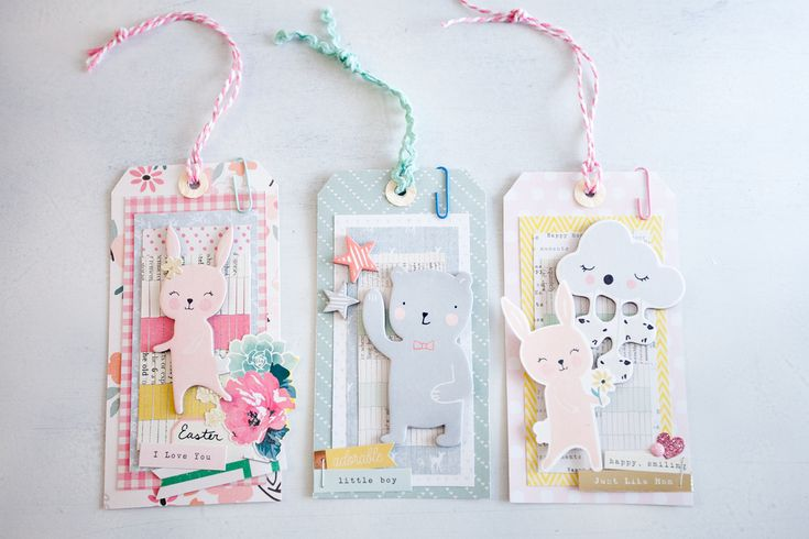 Tags by Andrea Bethke using Crate Paper Little You and Bloom