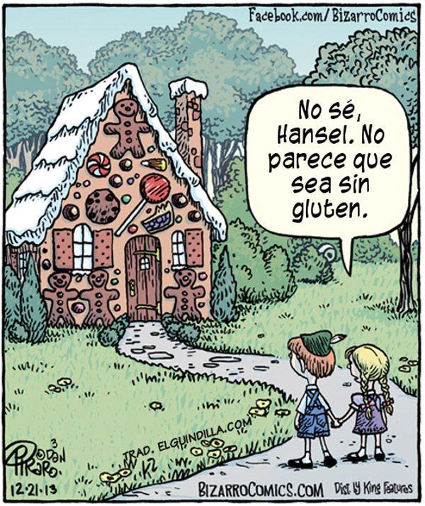 Cuento para celiacos. Por Dan Piraro, Bizarro Comics.
