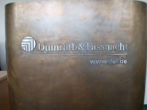 Stehpult Und Rednerpult Aus Tombak Für Dumrath U0026 Fassnacht In Hamburg