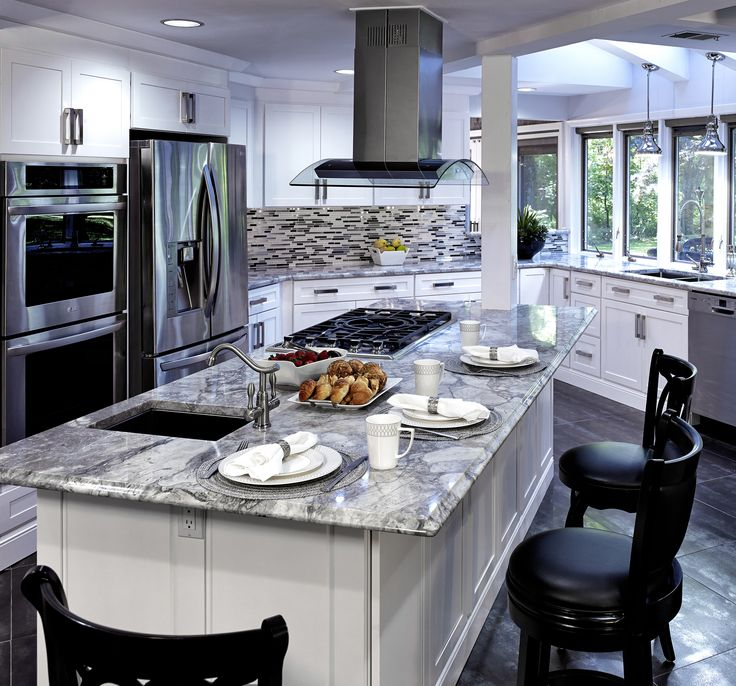 Lovely Kitchen Design With Marble Kitchen Island Design Ideas U0026 Pictures