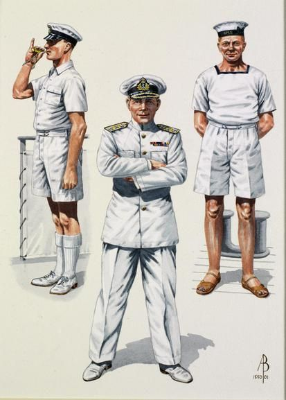 Royal Navy: Far East, WW2: Petty Officer 1940; Rear Admiral, 1940; Rating, Far East 1945
