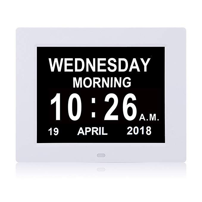 Ssya Newest Version Day Clock 12 Alarm Options Level 5 Auto Dimmable Display Extra Large Impaired Vision Digital Clock Wit Digital Clocks Clock Time Timer
