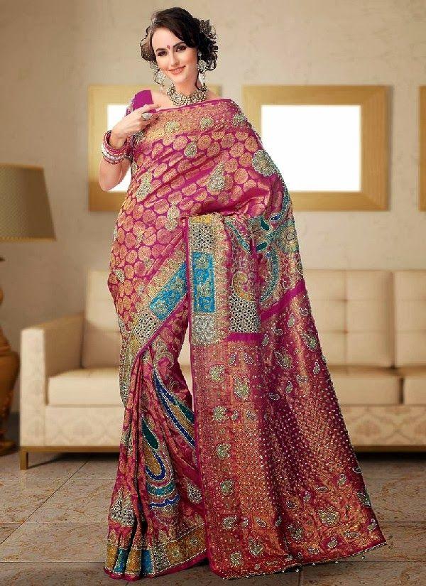 New Brocade Bridal #Saree Collection