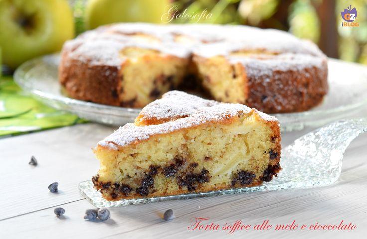 Torta+soffice+alle+mele+e+cioccolato,+ricetta+buonissima!
