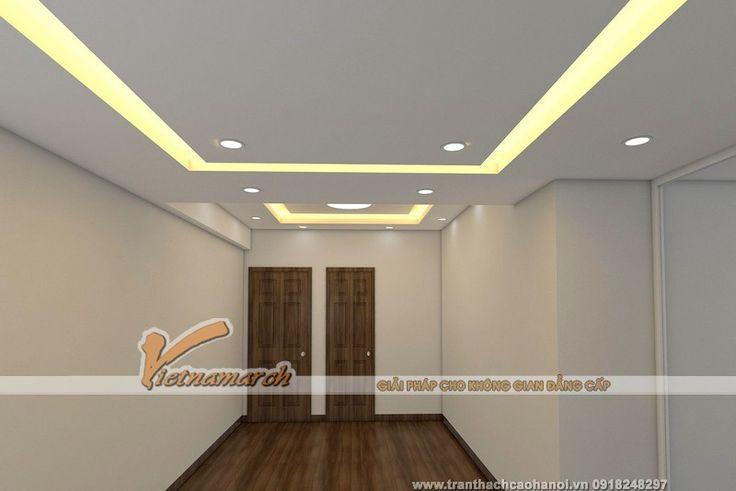 Thiết kế trần thạch cao cho phòng khách nhà anh Hưng - Phạm Văn Đồng