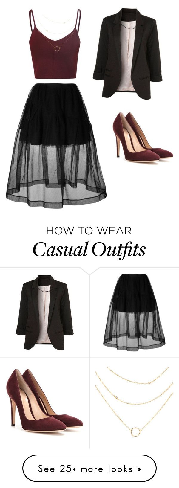 """""""Smart Casual"""" by queenkhadijah on Polyvore featuring Gianvito Rossi and Simone Rocha"""