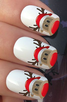 CHRISTMAS NAIL ART SET #756 RUDOLPH REINDEER HAT WATER TRANSFER DECALS STICKERS in Health & Beauty, Nail Care, Manicure & Pedicure, Nail Art Accessories | eBay!