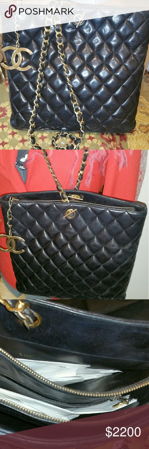 Chanel Quilted shoulder bag Vintage lamb quilted leather, it's clean and free from odor. Chanel  Bags Shoulder Bags