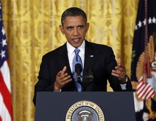 President Barack Obama speaks about the debt limit in the East Room of the White House on Jan. 14, 2013. (Carolyn Kaster/AP) OBAMA >>ANGRY AND DEMANDING!!!!AS THE MOVIE 2016 ..warned us!!