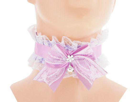 White purple collar womens jewelry Ribbon by FashionForWomen
