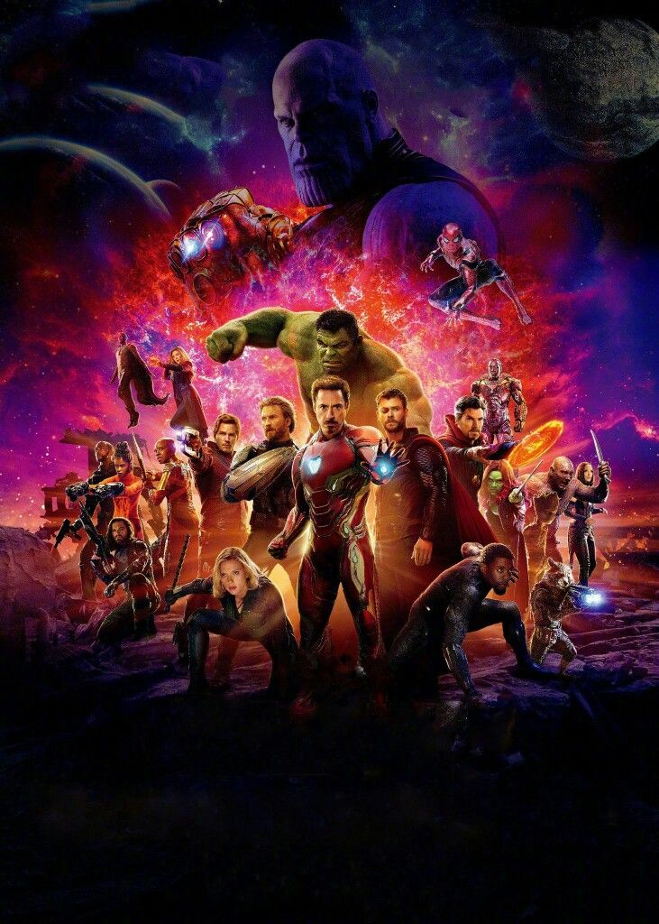 Avengers Infinity War Official Chinese Poster Textless Marvel Vs Dc Comics Peliculas Marvel Regalos Marvel