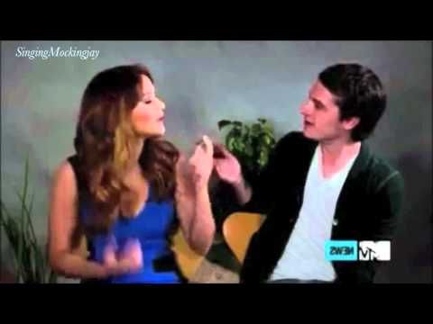 Funny moments with Jennifer Lawrence & Josh Hutcherson (Hunger Games) Lol I mostly pinned this because I absolutly love Jennifer lawrence<3 lol