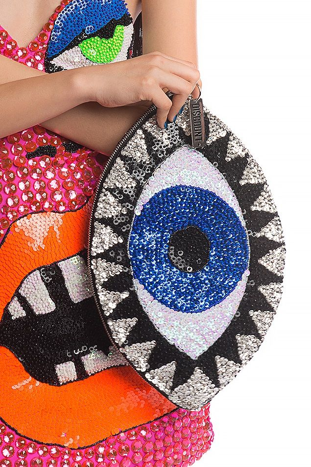 Image of X-LARGE EVIL EYE CLUTCH