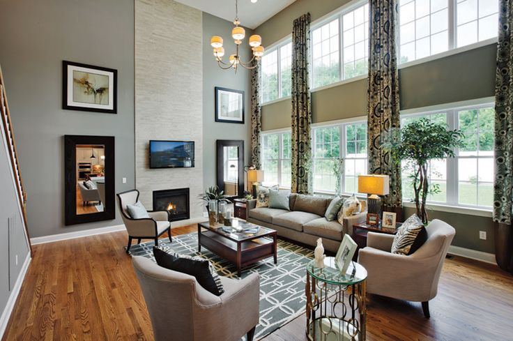 17 best images about decorated model homes on pinterest for Model home living room