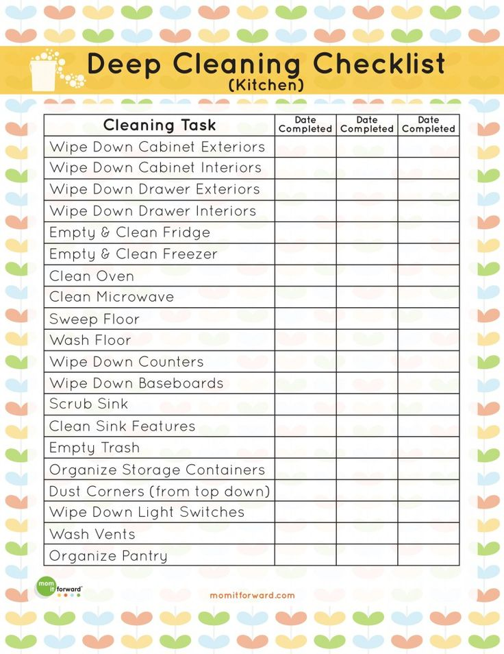 48 Best Cleaning Schedule Chore Charts Images On