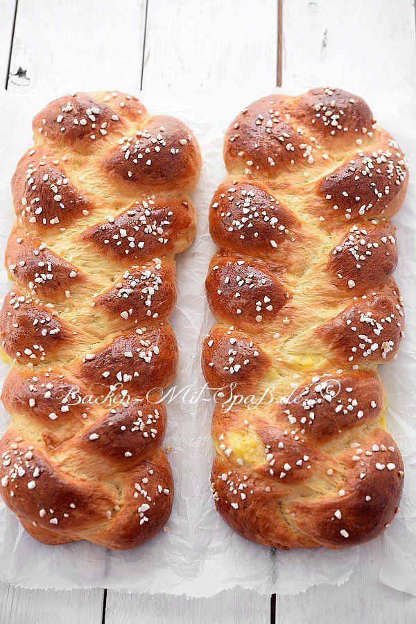 Hefezopf mit Puddingfüllung | Rezept | Food {Gebäck ...