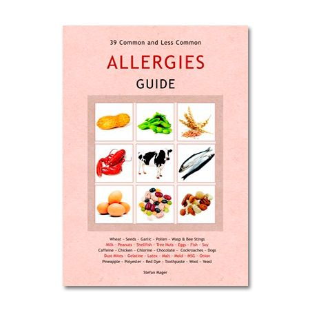 The Allergies Guide provides an important overview of the allergy subject, which is a big and growing problem. 39 common and not so common allergies are introduced including: wheat, seeds, garlic, pollen, wasp & bee stings, milk, peanuts, shellfish, tree nuts, eggs, fish, soy, caffeine, chicken, chlorine, chocolate, cockroaches, dogs, dust mites, gelatine, latex, malt, mould, MSG, onion, pineapple, polyester, red dye, toothpaste, wool and yeast.