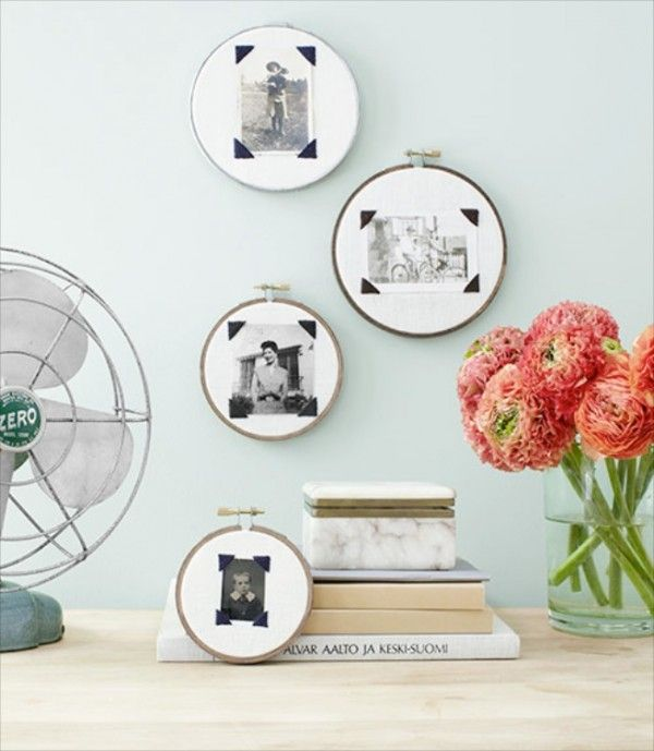 Displayed In This Embroidery Hoop Is A Fantastic: 1000+ Ideas About Photo Displays On Pinterest