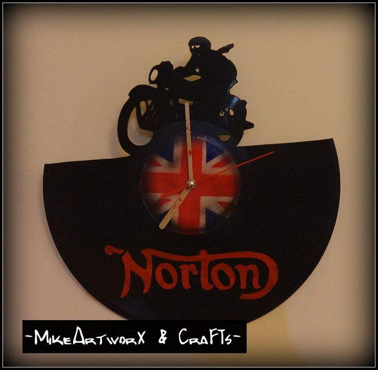 Norton motorbikes, British flag.