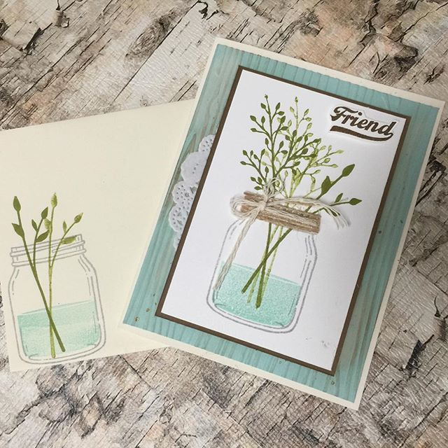 Jars of Love from Stampin Up #stampinup #stamping # friend #diy #create #creative #papercrafts