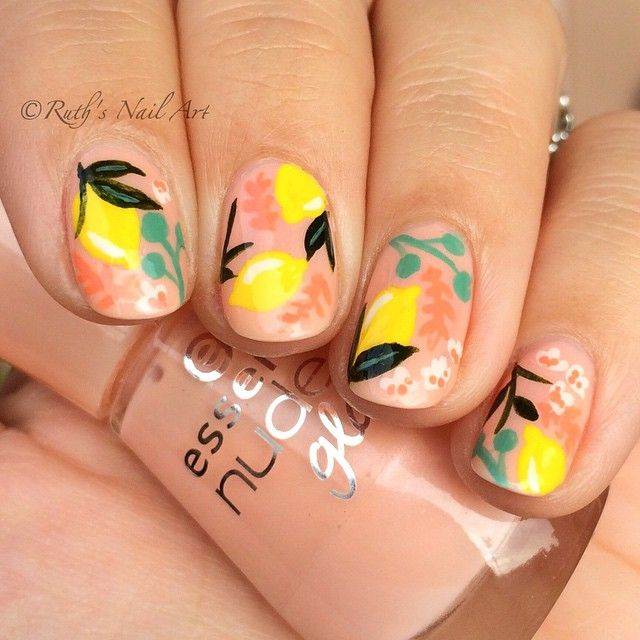 Lemon nails #ruthsnailart #nailart