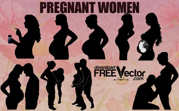 Free Vector Decription :    Silhouettes of pregnant women and her partner in vector format. Free for commercial used.