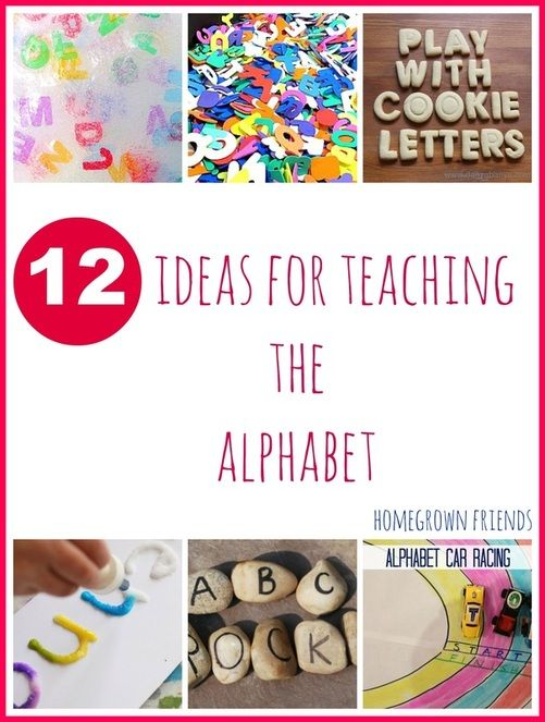 Round up of great ideas for exploring the alphabet with children from Homegrown Friends.