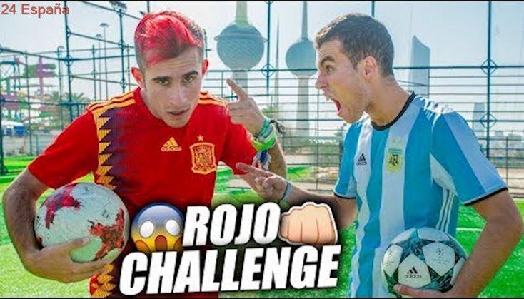 ME TIÑO DE ROJO POR PERDER UN RETO - FOOTBALL CHALLENGE