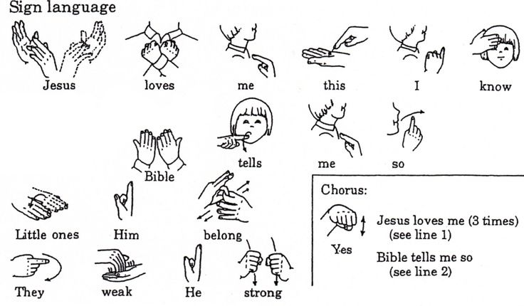 Yes Jesus Loves Me Sign Language