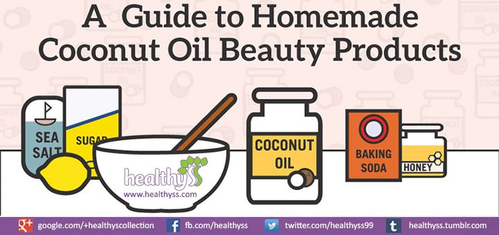 A #Guide To DIY Coconut Oil #Beauty Products (Infographic)