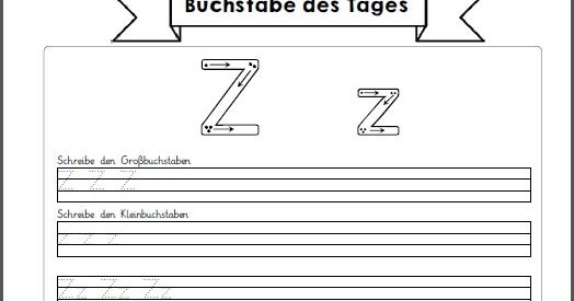"""Nun sind auch die letzten Arbeitsblätter """"Buchstabe des Tages"""" fertig geworden. Hier sind die Buchstaben U bis Z. Viel Erfolg beim Einsatz ..."""