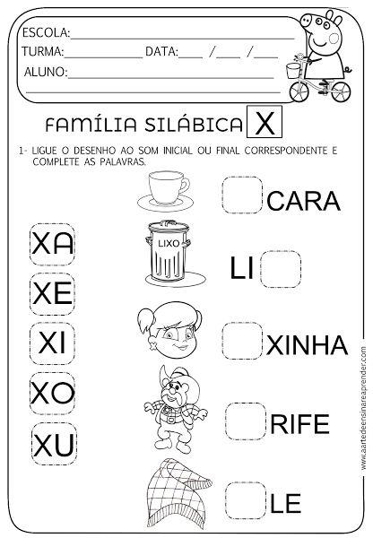 Atividade pronta - Família Silábica X