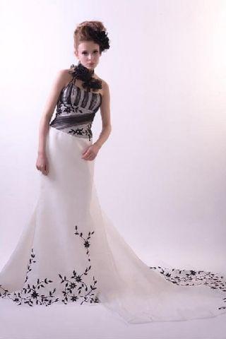 Funky Wedding Dresses  - Black and white wedding dress