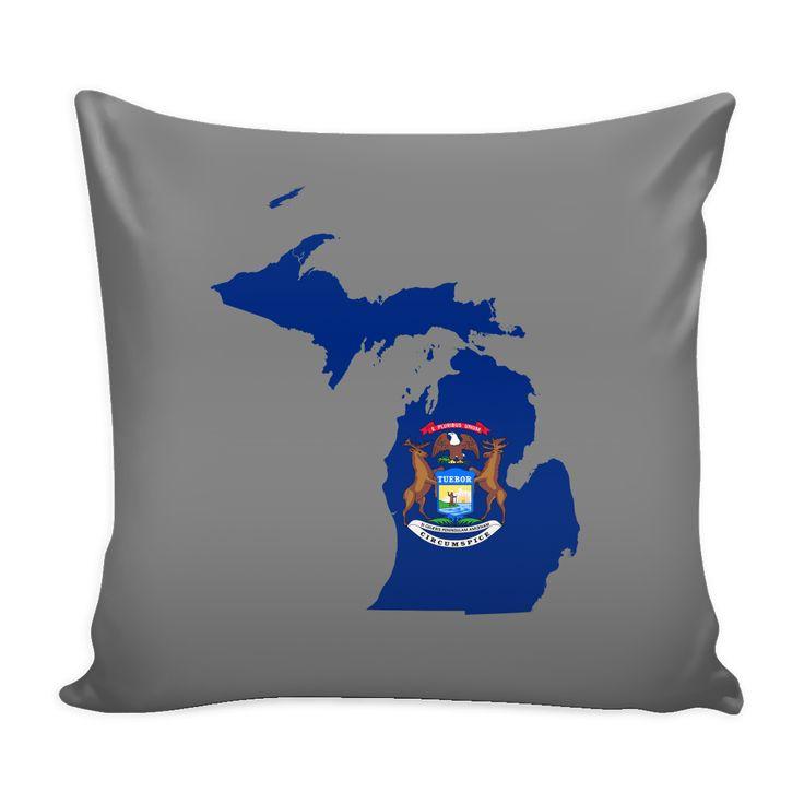 Michigan Flag Pillow Cover