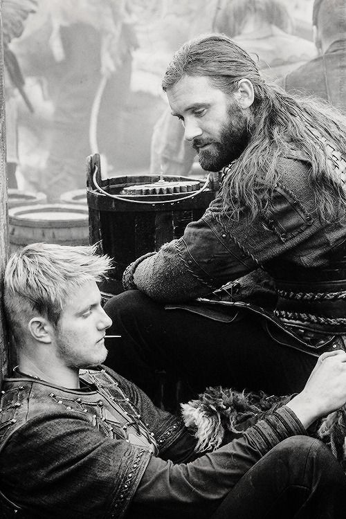 Vikings. Rollo and Bjorn, uncle and nephew.
