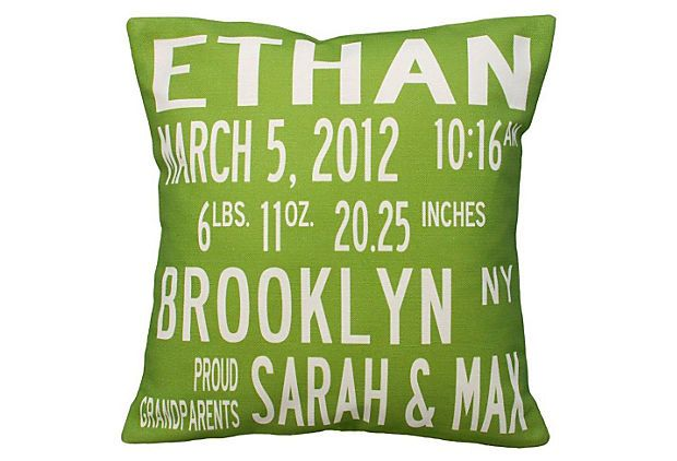 awesome keepsake!: Baby Pillows, Births Announcements, Gift Ideas, 16X16 Pillows, Birth Announcements, Personalized Pillows, Throw Pillows, Announcements Pillows, Baby Gift