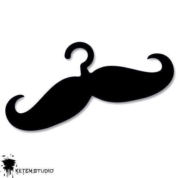 moustache hangers laser cut acrylic 3 units by KetemStudio, $30.00