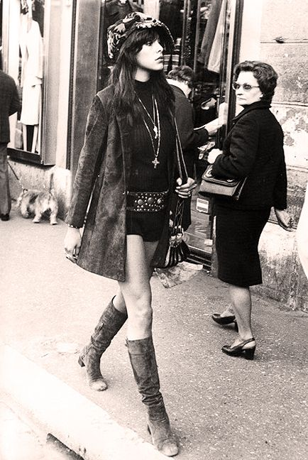 60s London: Turning heads! Youth passing fast by the old. On a mission. The old reminiscing of it's youth. Perhaps.