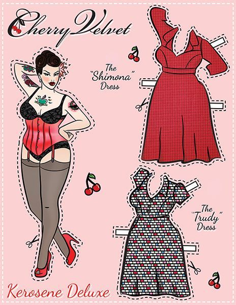 Pin-Up Paper Dolls! – Cherry Velvet Plus: