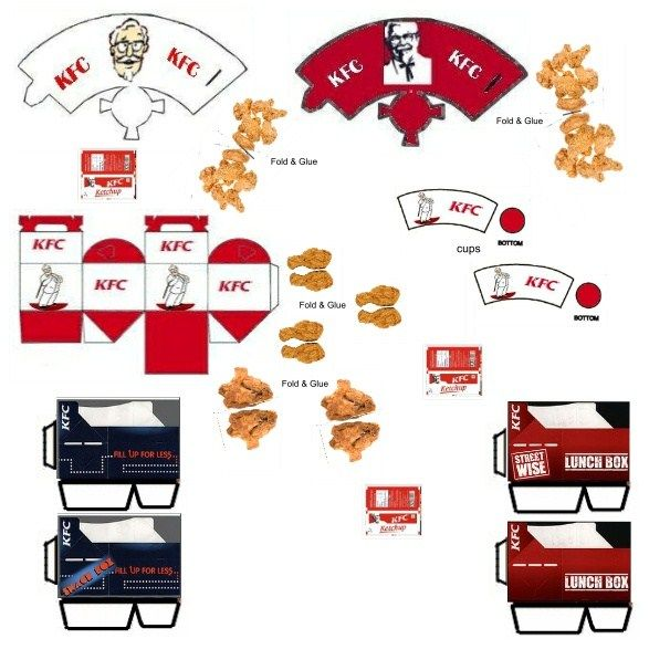Kfc Toy Food : Best images about miniature fast food printables on