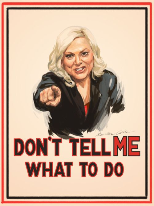 Don't Tell Amy Poehler What To Do With Her Lady Business! By SwimmingTrunks. Found on Big Fat Feminist by Intern Kaye.