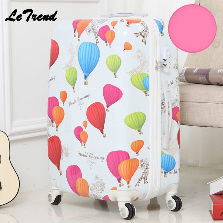 Letrend Fashion Student ABS Rolling Luggage Spinner Wheels Suitcase Trolley 20 inch Women Travel Bag Carry On Password Trunk //Price: $76.10 & FREE Shipping //     #hashtag4