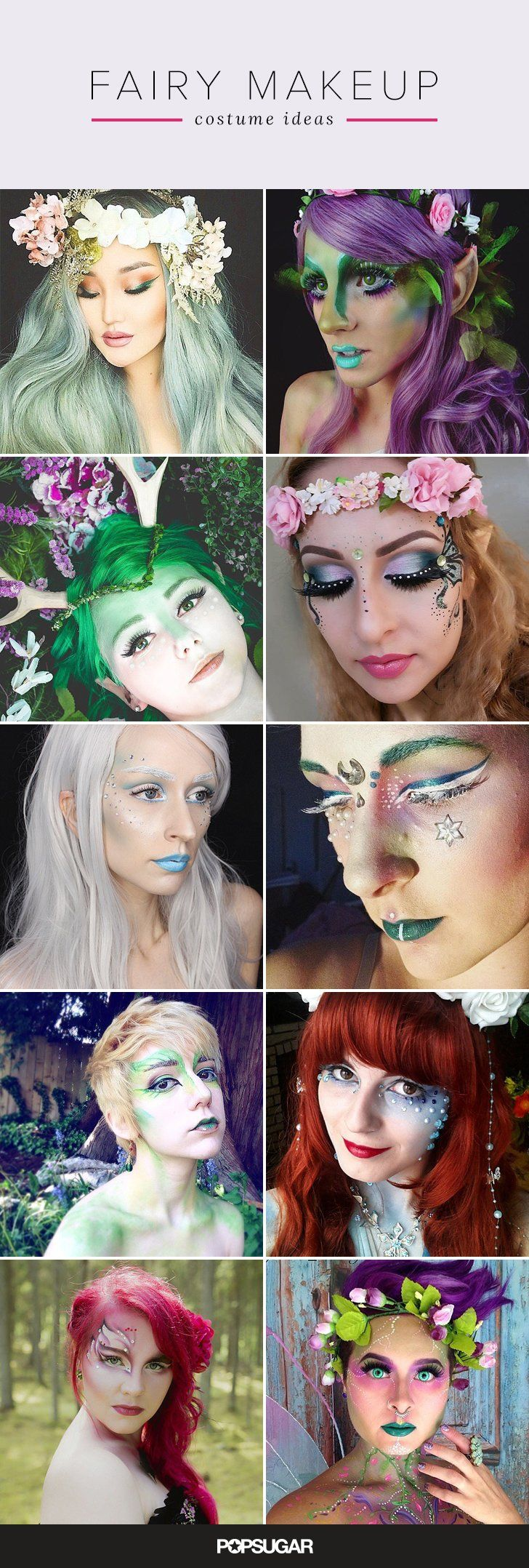 Look like the most magical fairy in the room this Halloween with this amazing fairy makeup ideas.