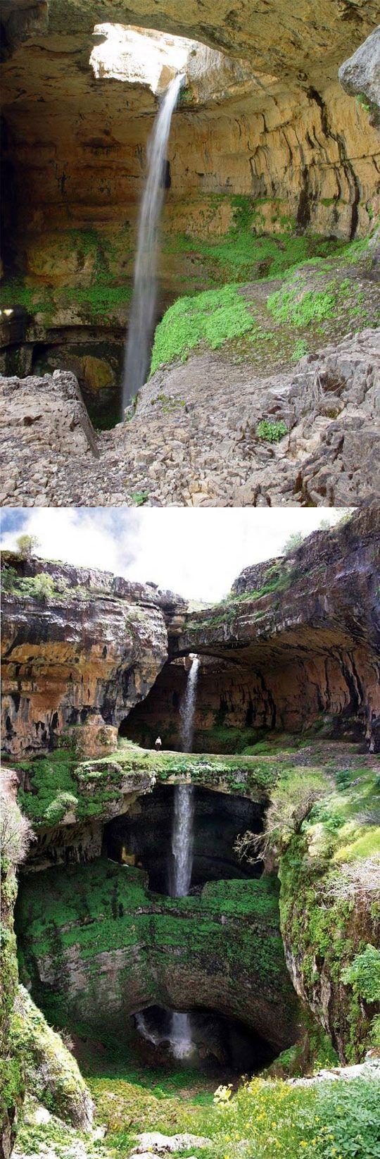 Baatara Waterfall in Lebanon