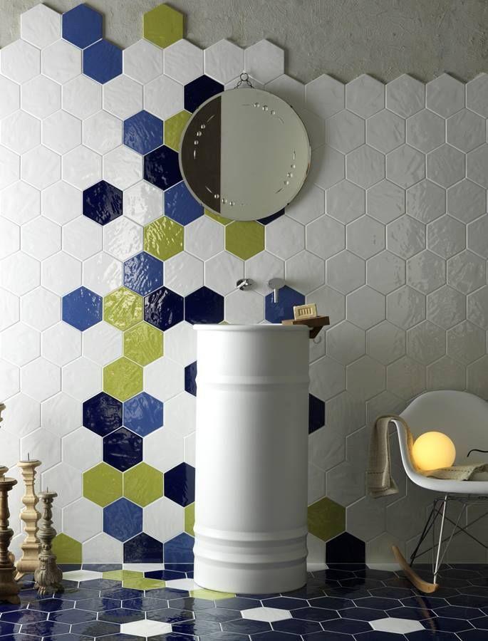 Exabright - šestihrany, hexagony v koupelně i v kuchyni | Série obkladů | SIKO KOUPELNY