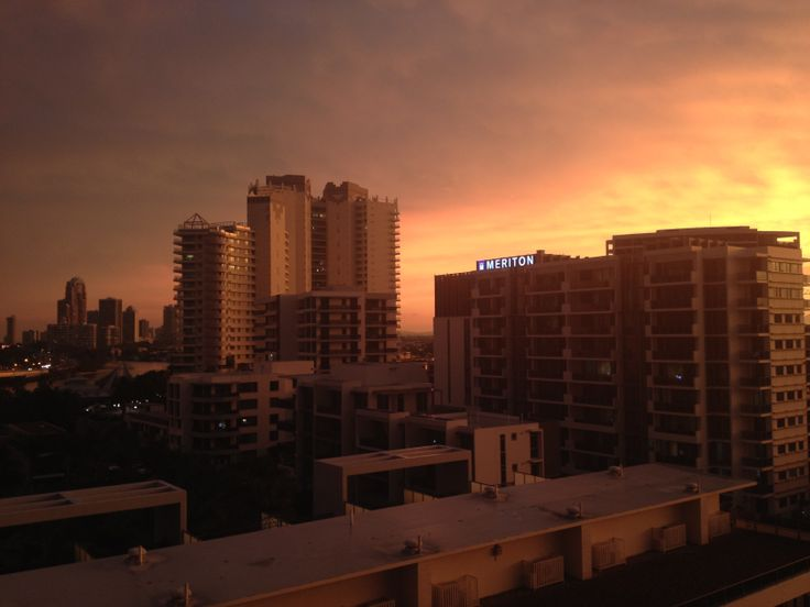 Sunset after a big storm on the Gold Coast