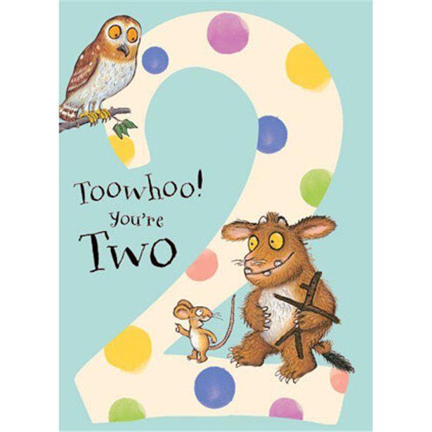 Gruffalo Age 2 Spotty Birthday Card Each Birthday Cards Birthday Cards For Son Greeting Card Size
