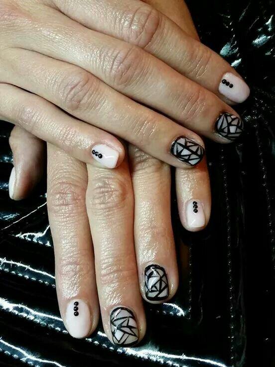 Mozaic nalis #nails #creative #gel