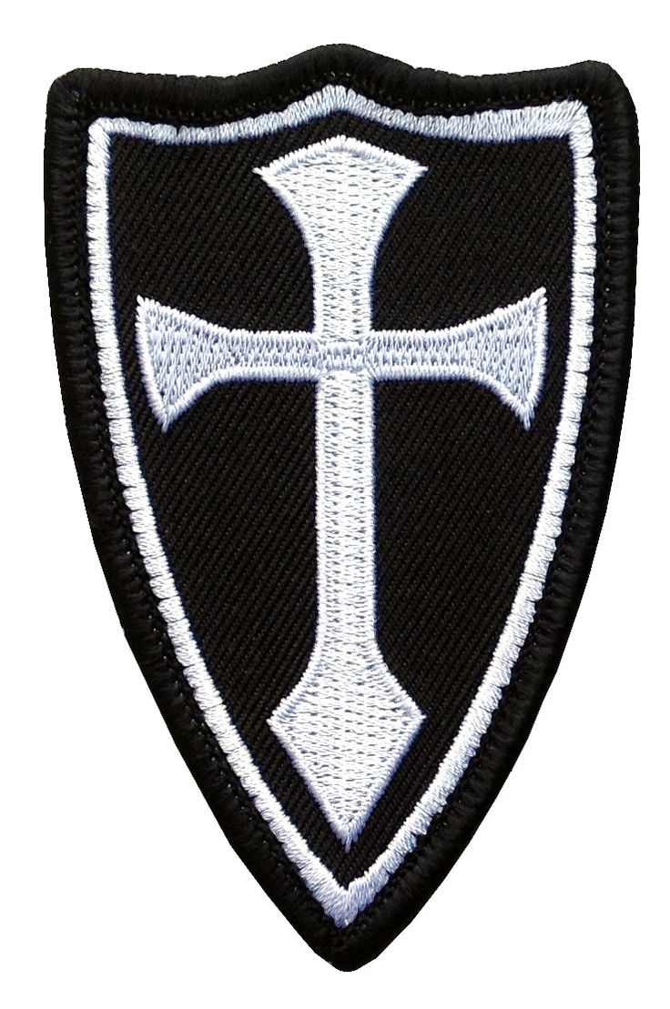 Velcro Crusader Cross Special Forces Military Tactical Morale Patch